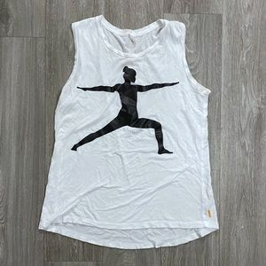 LUCY Warrior Pose Graphic Tank Top Small